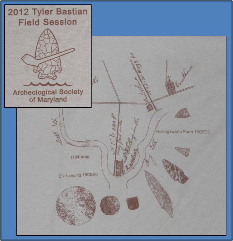 The 2012 Tyler Bastian Field Session was held at the Hollingsworth Farm (18CE29) and Elk Landing (18CE60) sites in Cecil County.
