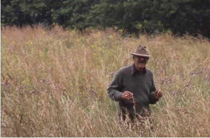The first time William (Bill) Grieb was able to visit the site by land.
